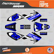 Graphics Kit For Honda Crf70 All Years Crf 70 Crf-70 Fh- Blue