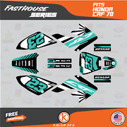 Graphics Kit For Honda Crf70 All Years Crf 70 Crf-70 Fh- Teal