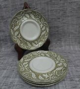 J And G Meakin Sterling Renaissance Green Replacement Saucers Set Of 4