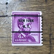 4 Cent Abraham Lincoln United States Postage Stamp With New York Cancel Mark