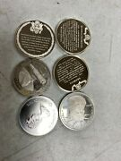 Lot Of 6 .925 Sterling Rounds 4.71 Ozand039s Total Weight 005