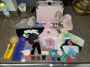 Vintage Ginny Walker Doll Blonde Hair 7.5andrdquo With Clothes Shoes Accessories Lot