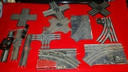Large Lot Vintage 027 Lionel Manual Switches And Crossing For Repair/restoration