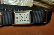 Rare 1940and039s Zenith Sub Second White Dial Manual Wind Mid Size Watch