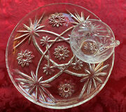 Vtg Anchor Hocking Prescut 15 Pc-10 Snack Plate And Cup Sets Eapc Star Of David