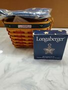 2001 Brand New Longaberger Inaugural Basket W Liner Protector And Tie On