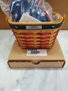 2001 Brand New Longaberger Inaugural Basket W Liner Protector And Lid