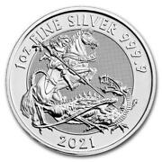2021 Great Britain Valiant 1oz .9999 Silver Coin Bu From Mint Roll