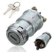 1x Universal Car Auto Suv Replacement Ignition Switch Lock Cylinder W/ 2 Keys