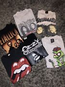 26 Piece Vintage Band Wwf And Sport T Shirt Lot 1980andrsquos 1990andrsquos Metallica Pantera
