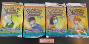 Pokemon 1st Edition Gym Heroes Booster Packs Complete Art Setandnbspsealed
