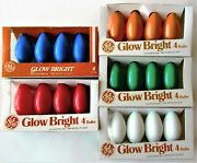 25 1980s Ge Quality C-9 Christmas Light Replacement Bulbs Color Glow Bright Bulb