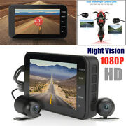 4and039and039 1080p Hd Dual Lens Camera Motorcycle Driving Recorder Wireless Wifi Dash Cam