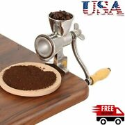 Manual Mill Grinder Hand Crank Grain Corn Food Wheat Coffee Nuts Cast Stainless