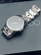 Movado Valeto 37mm Swiss Made, Stainless Steel Mens Watch, 84.g1.1890, 1495 New