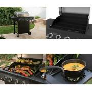 Propane Side Burner Grill Cast-iron Grid Side Prep Area Outdoor Cooking 562sq In