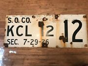 S. O. Co.porcelain Gas And Oil Sign Standard Oil 7-29-26.