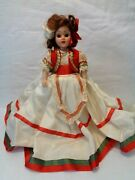 Vintage Hard Plastic Doll, Duchess Doll Corp. Dolls Of All Nations Series, Italy