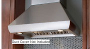 Wolf Pwc482418 48 Wall Mount Range Hood Chimney Style Blower Not Included
