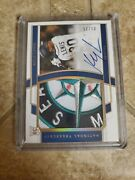 2020 National Treasures Kyle Lewis Auto Logo Patch Rpa Hologold Rc 1/25 Mariners
