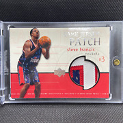 Steve Francis 1999-00 Upper Deck Game Jersey Patch Gjp25 Rookie Year, Rare