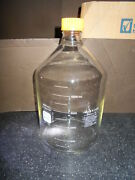Pyrex 1395 5000ml Glass Erlenmeyer Media Storage Bottle W/ Pouring Ring