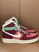 Nike Air Force 1 High Nordic Christmas Red Green Dc1620-600 Menandrsquos Size 15