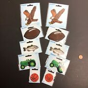 Iron On Patches Lot Applique Simplicity Sports Football Basketball Eagle Tractor