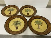 11 Inch Dinner Plates By Pacific Rim - Hand Painted. Vintage