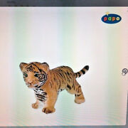 Tiger Cub Key Ring - Nwt Made By Papo - French Maker Of Toys For Children