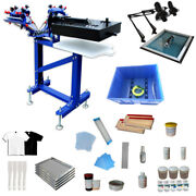 Screen Printing Equipment 3 Color 1 Station Press Printing Kit With Small Dryer