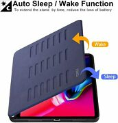 Ipad Air 10.9 Case Adjustable Stand Cover Pencil Holder Magnetic Auto Wake Sleep