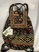 Vera Bradley Ming Asian Print Mimi Backpack Drawstring Magnetic Flap Close Nwt