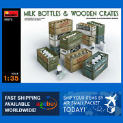 Milk Bottles With Wooden Crates Miniart 1/35 Scale Plastic Model Kit Ma35573