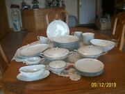 Noritake Bellemead Rose Pattern 6314 Vtg Grouping Of 50 Porcelain China Pieces