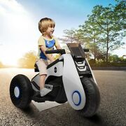 Electric Tricycle Kids Ride On Motorcycle 3 Wheels Stroller Children Musical Toy