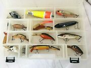 Deep Diving Crankbait With Fresh Water Lure Lot 11 Lures In Plastic Case 1028a