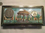 Antique Silver Middle Eastern Enameled Dresser Or Document Box