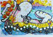 Tom Everhart Chillin Snoopy Peanuts Main Signandeacutee Lithographie