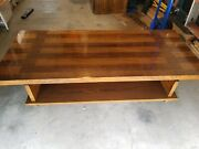Lane Alta Vista Oak And Walnut Mid-century Modern Coffee Table And Side Tables