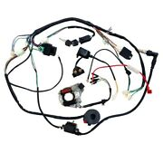 Complete Stator Wiring Harness Cdi Ignition Coil Solenoid Atv Bike 50cc - 125cc