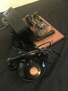 Western Electric Telephone And 634 A Subset Ringer Black Mounted Operator Style