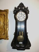 Rarely Gustav Becker Wall Clock Regulator 1875 - 1880 With Second Large Dial
