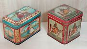 Antique Tin Candy Boxes Marked F.d. Holland Rare - 2 Pcs.