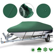 11-19ft Heavy Duty 210d Waterproof Boat Cover Green V-hull Fishing Bass Cover