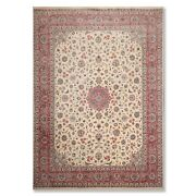 9and039 X 12and0396 As Is Hand Knotted 300 Kpsi Isfahaan Oriental Area Rug Beige