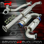 For 2013-2016 Subaru Brz Frs Stainless Steel Ss Dual Catback Exhaust 4 Burn Tip