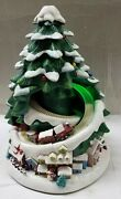 Avon 2007 Lighted Christmas Music Holiday Tree With Train In Box Rare, No Star