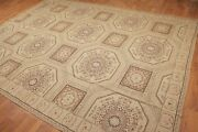 8and0398 X 11and0397 As Is Asmara Hand Woven French Needlepoint 100 Wool Area Rug Tan