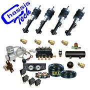 Complete Air Suspension Kit 1985-98 Volkswagen Jetta 480 Compressor 3 Gal Tank